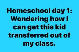 Homeschool Day 1