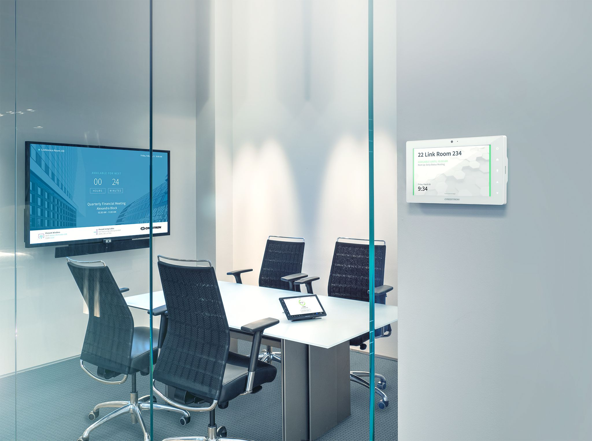 Integrated Solutions Huddle Room with Crestron