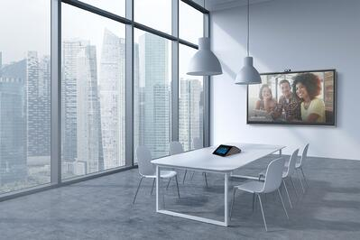Video conferencing in conference room with Crestron