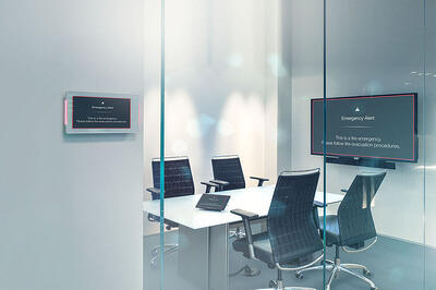 Integrated Solutions Huddle Room with Crestron-1