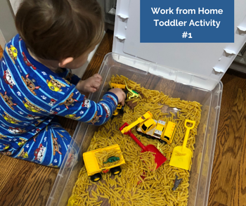 Work from Home Toddler Activity #1
