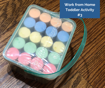 Work from Home Toddler Activity #3