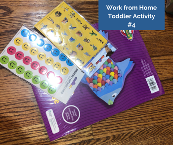Work from Home Toddler Activity #4