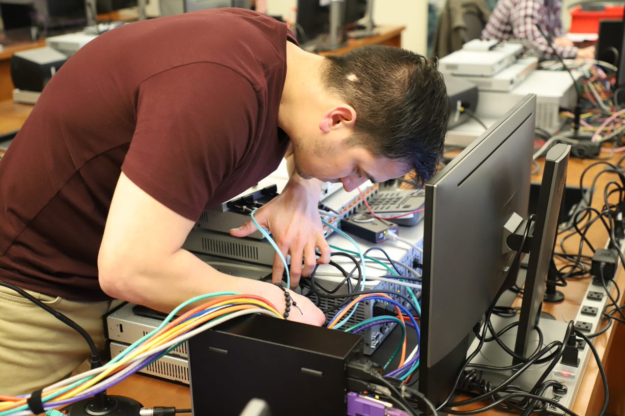 Smarter Systems Programmer, Rafael, spent some time training our partner Biamp.